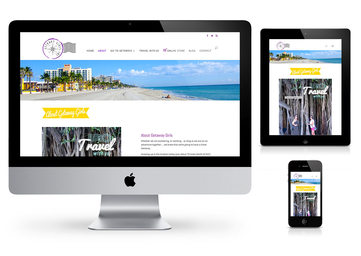 wordpress webdesign for Getaway Girls inc. by Fab Web Philly
