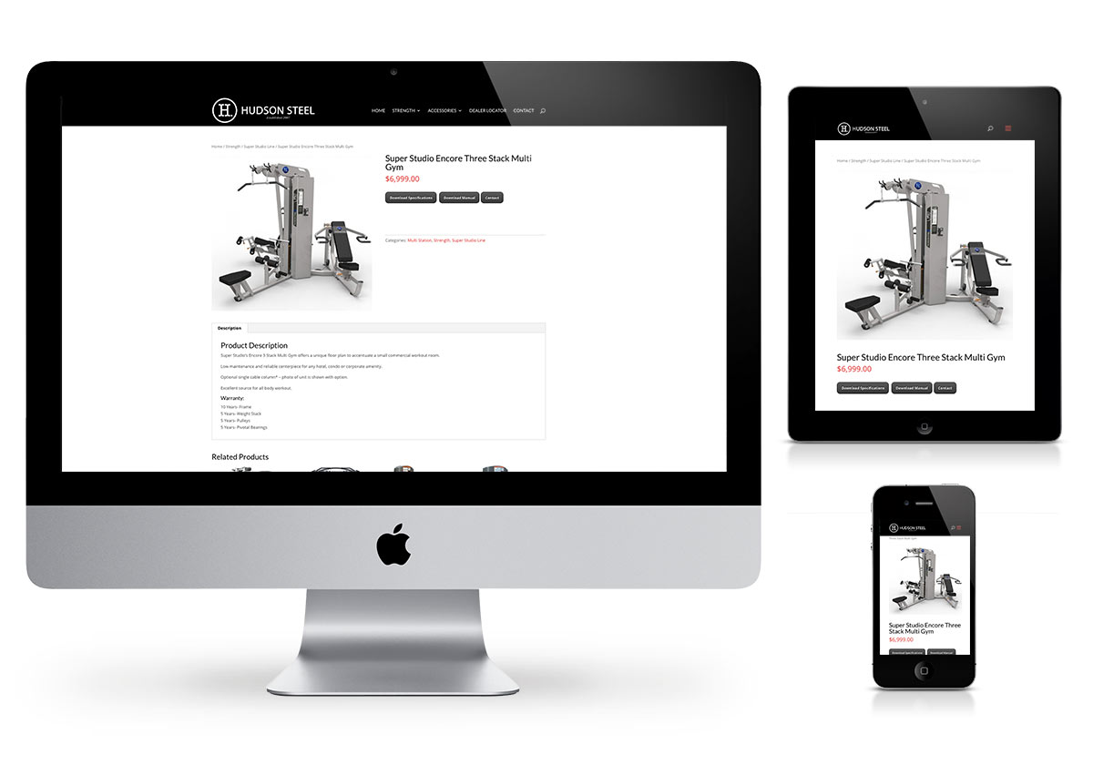 Fitness Equipment website by Fab Web
