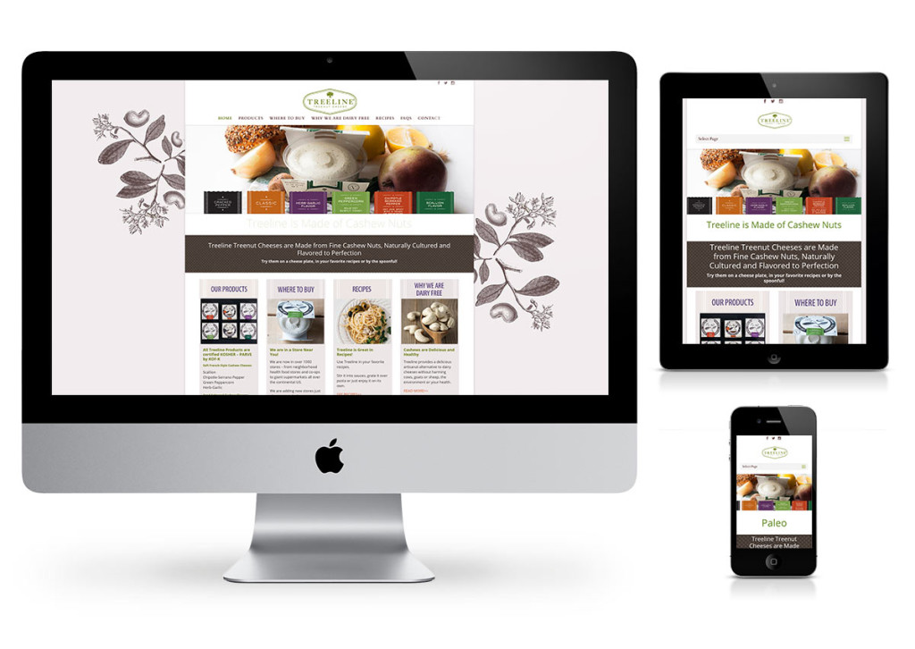 Treeline Cheese WordPress Website by Fab Web Philly