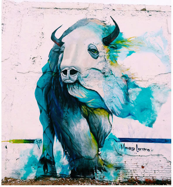Blue Bison Mural Northern Liberties