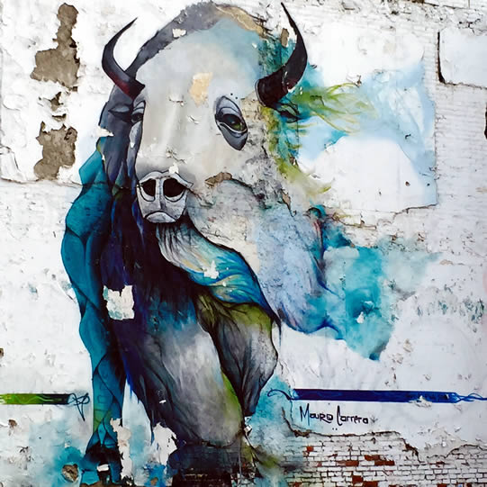 Blue Bison Mural Northern Liberties Philadelphia