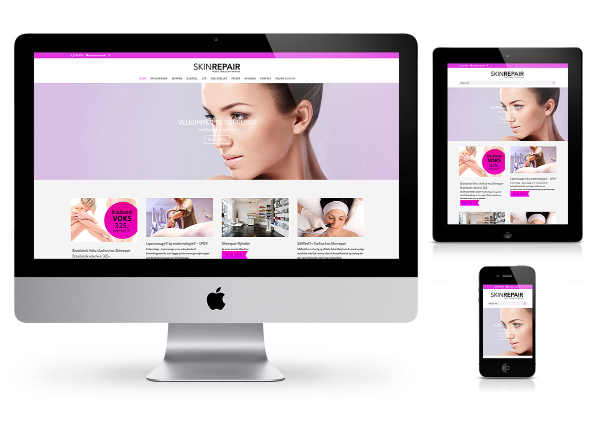 SkinRepair  - Wordpress Website by Fab Web Philly