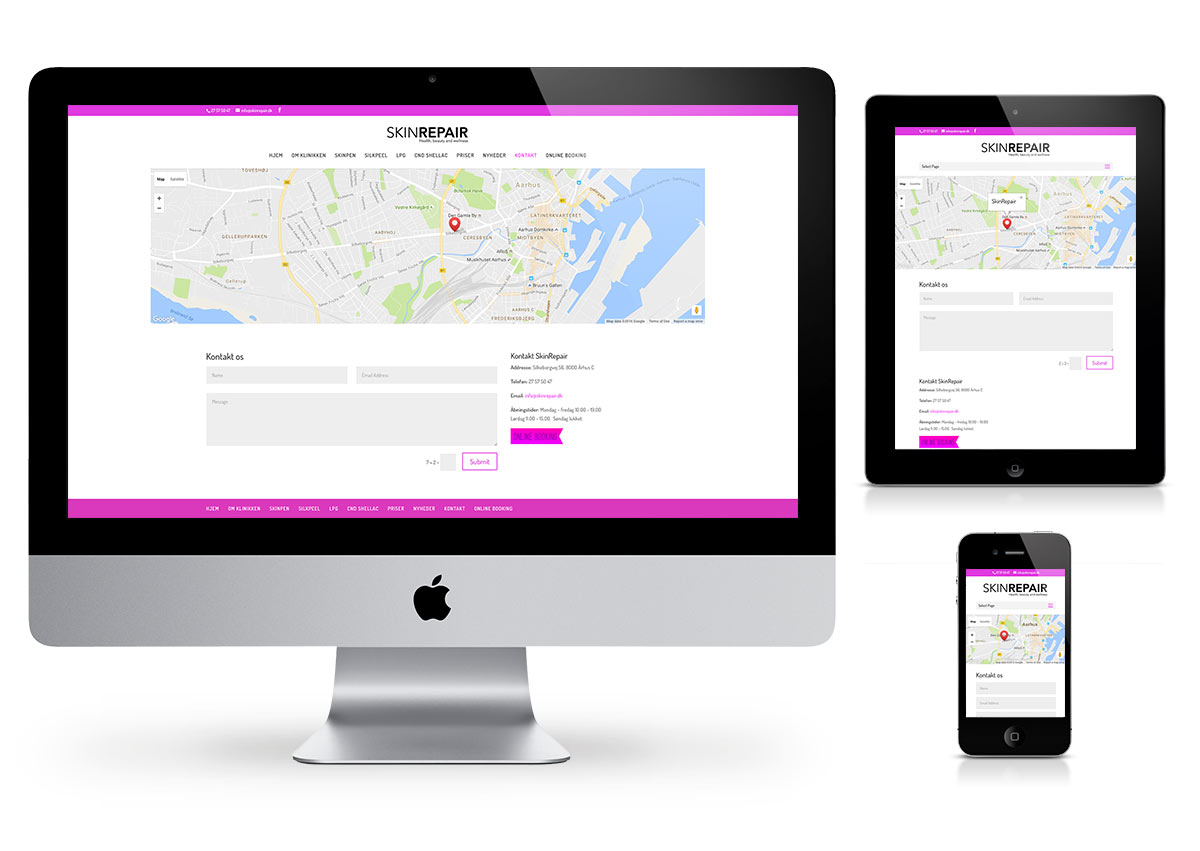 SkinRepair Wellness - Website by Fab Web Philly