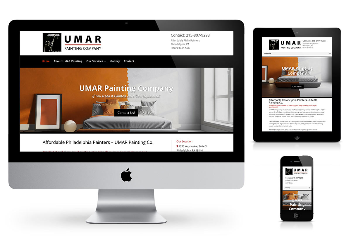Umar Painting company - Wordpress Website by Fab Web Philly