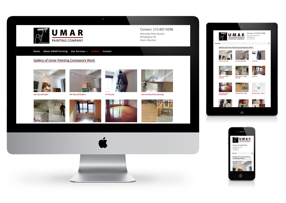Umar Painting company - Website by Fab Web Philly