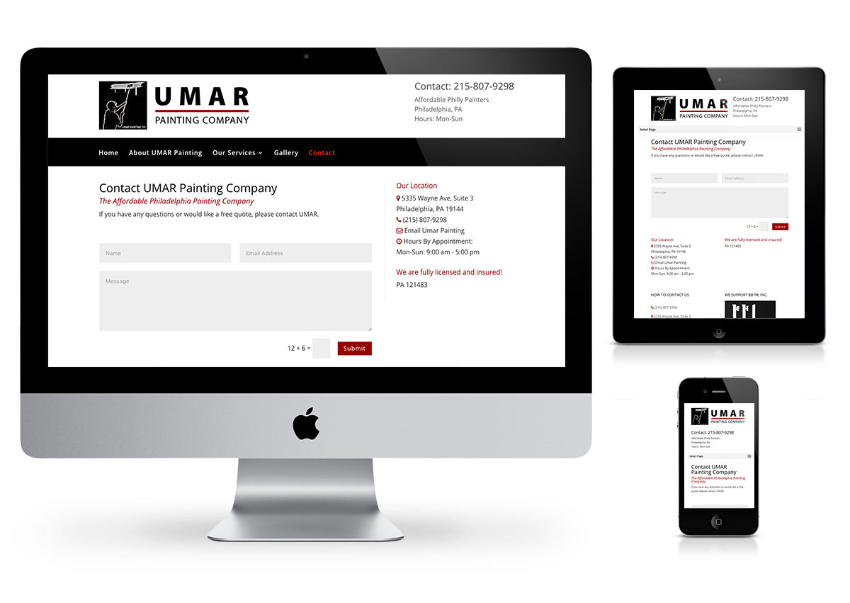 Umar Painting company - wordpress by Fab Web Philly