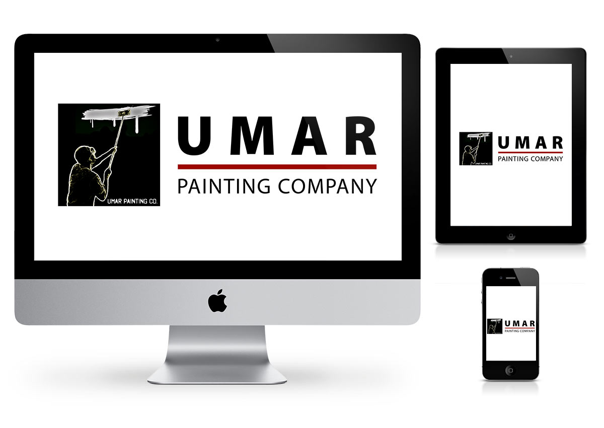 Umar Painting company - Logo Design by Fab Web Philly