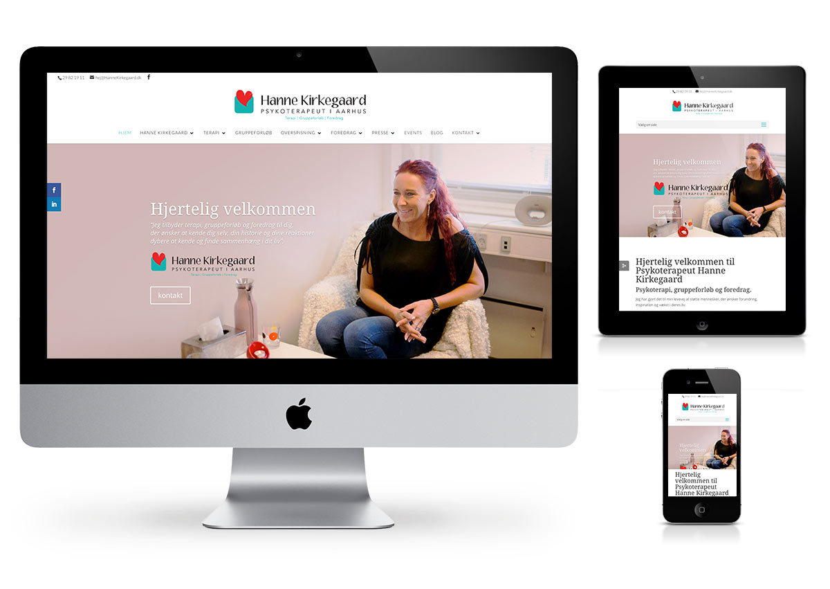 Hanne Kirkegaard Wordpress website by Fab Web