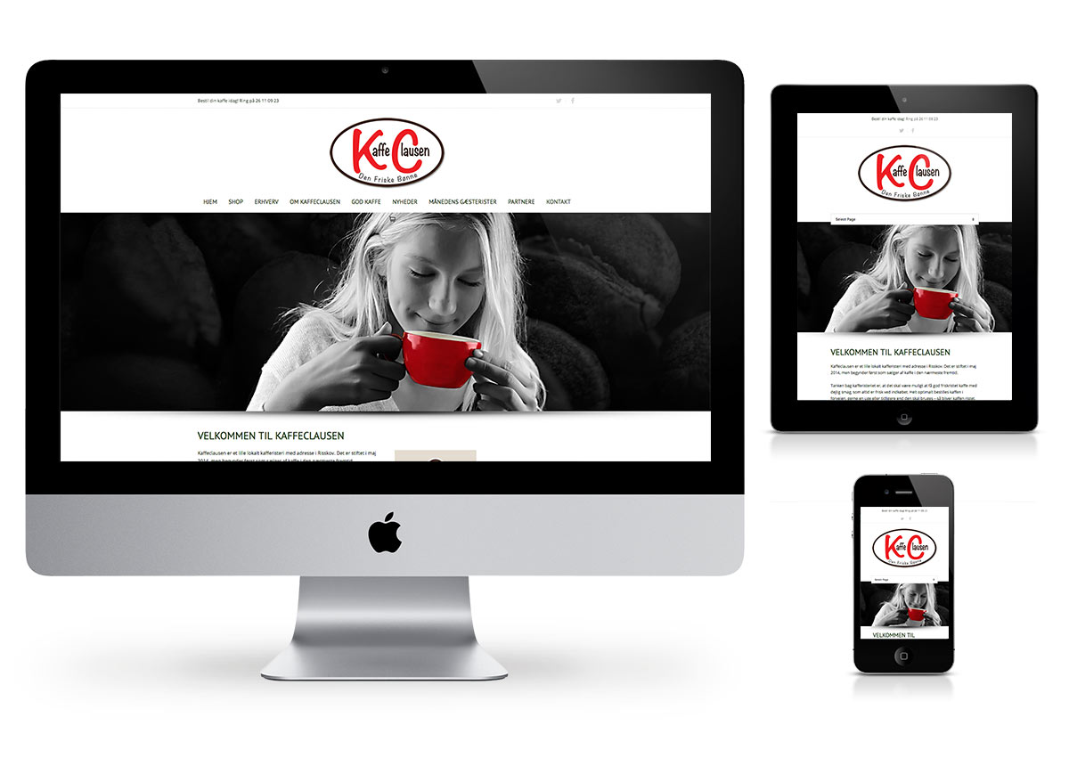 Kaffe Clausen Online Shop - Wordpress by Fab Web