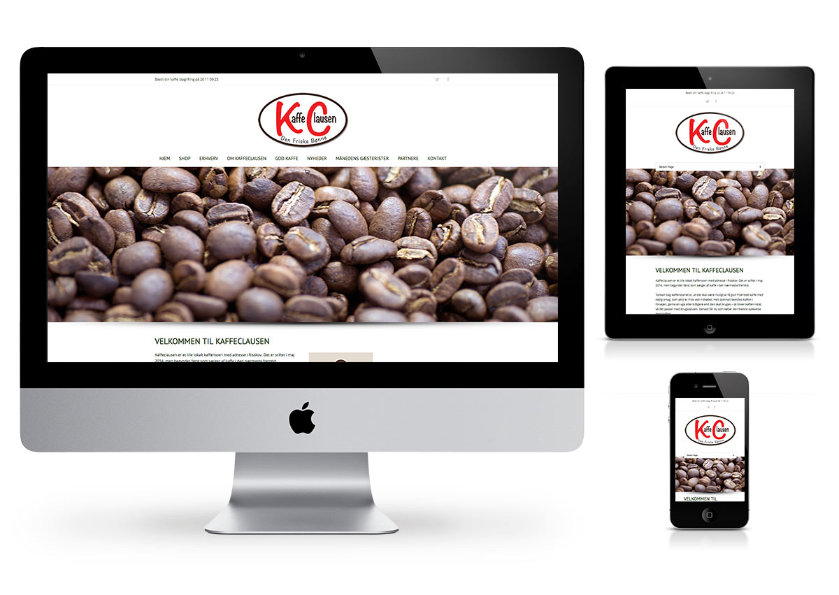 Kaffe Clausen -  Wordpress and Web Store by Fab Web