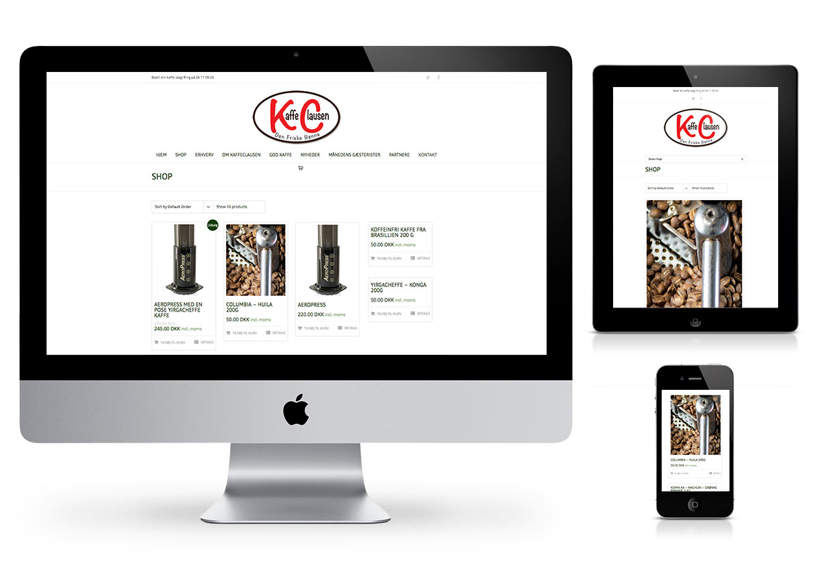 Kaffe Clausen - Wordpress and Online Store by Fab Web