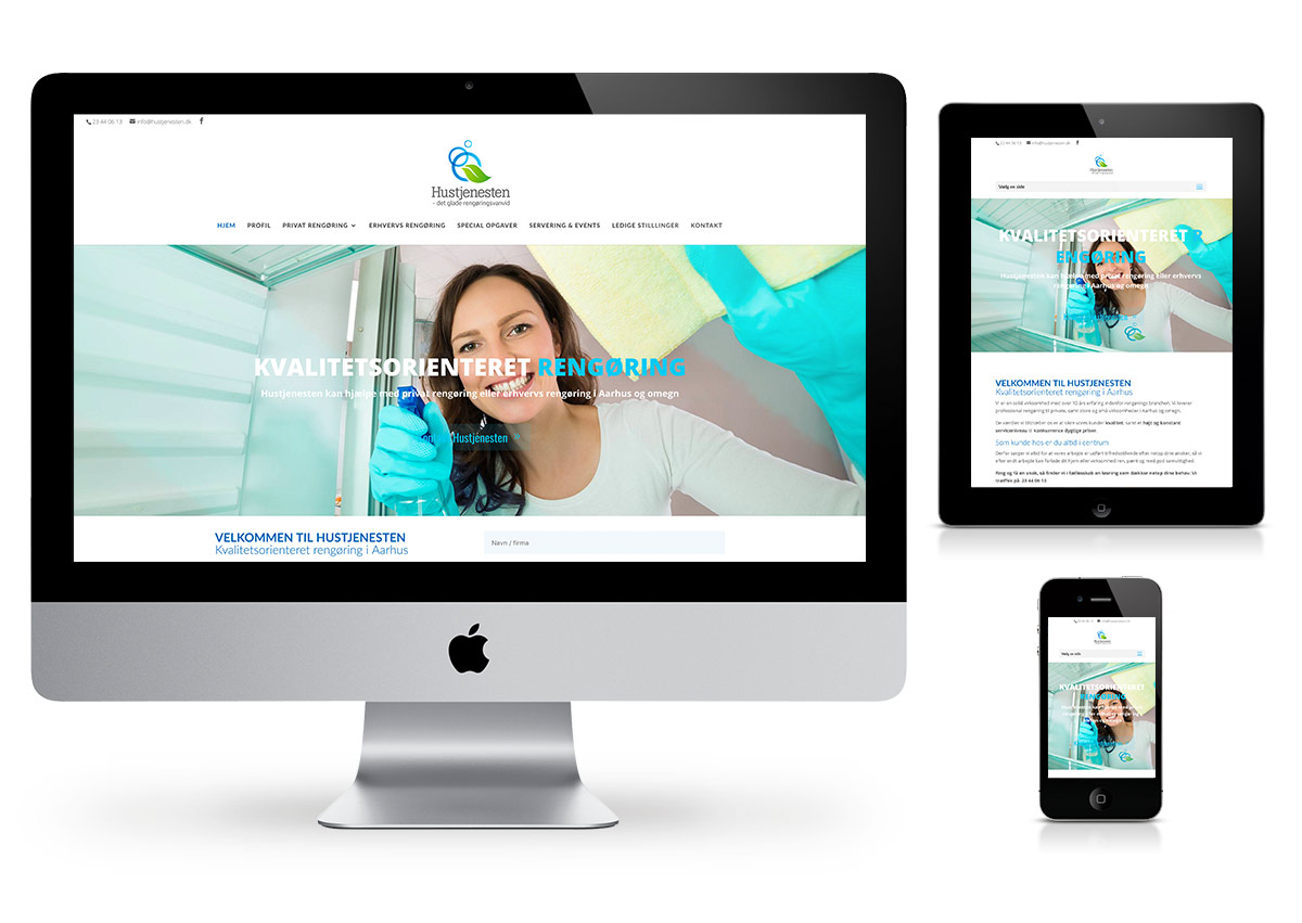 Danish webdesign - Cleaning website by Fab Web Philly