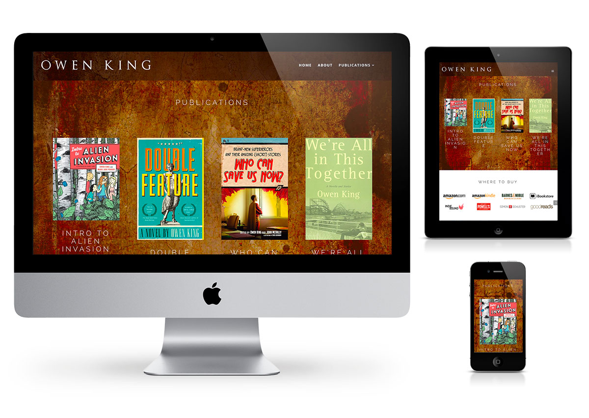 Owen King Website by Fab Web Philly
