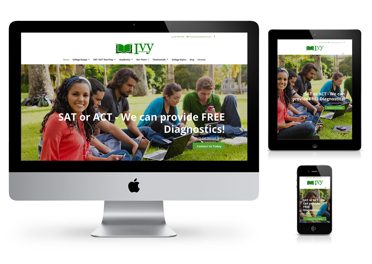 Ivy Experience Webdesign by Fab Web Philly