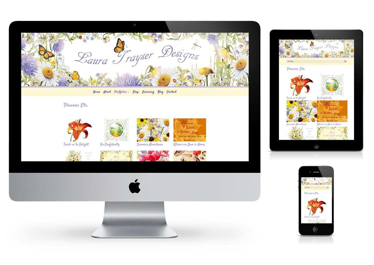 Laura Trayser Designs - Webdesign by Fab Web Philly