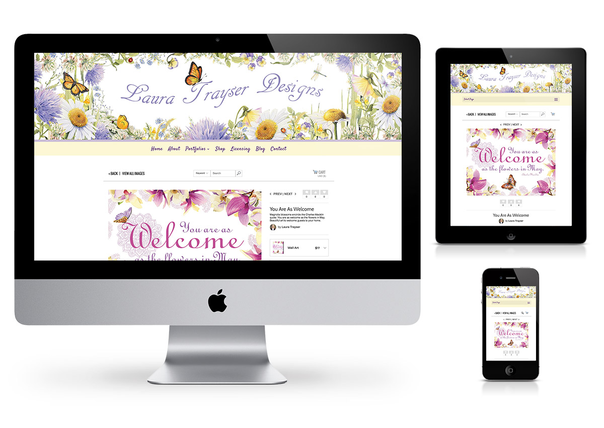 Laura Trayser Designs - Wordpress website by Fab Web Philly
