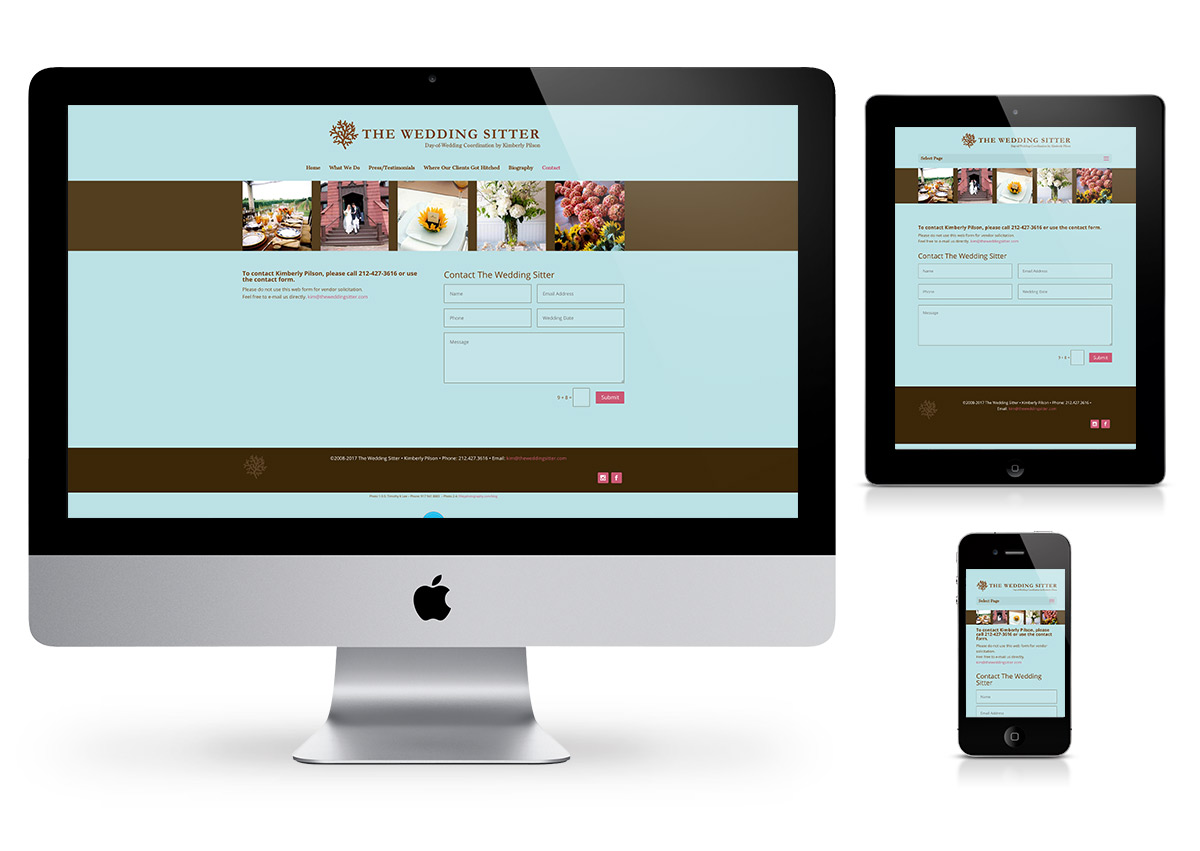 The Wedding Sitter - Website by Fab Web Philly