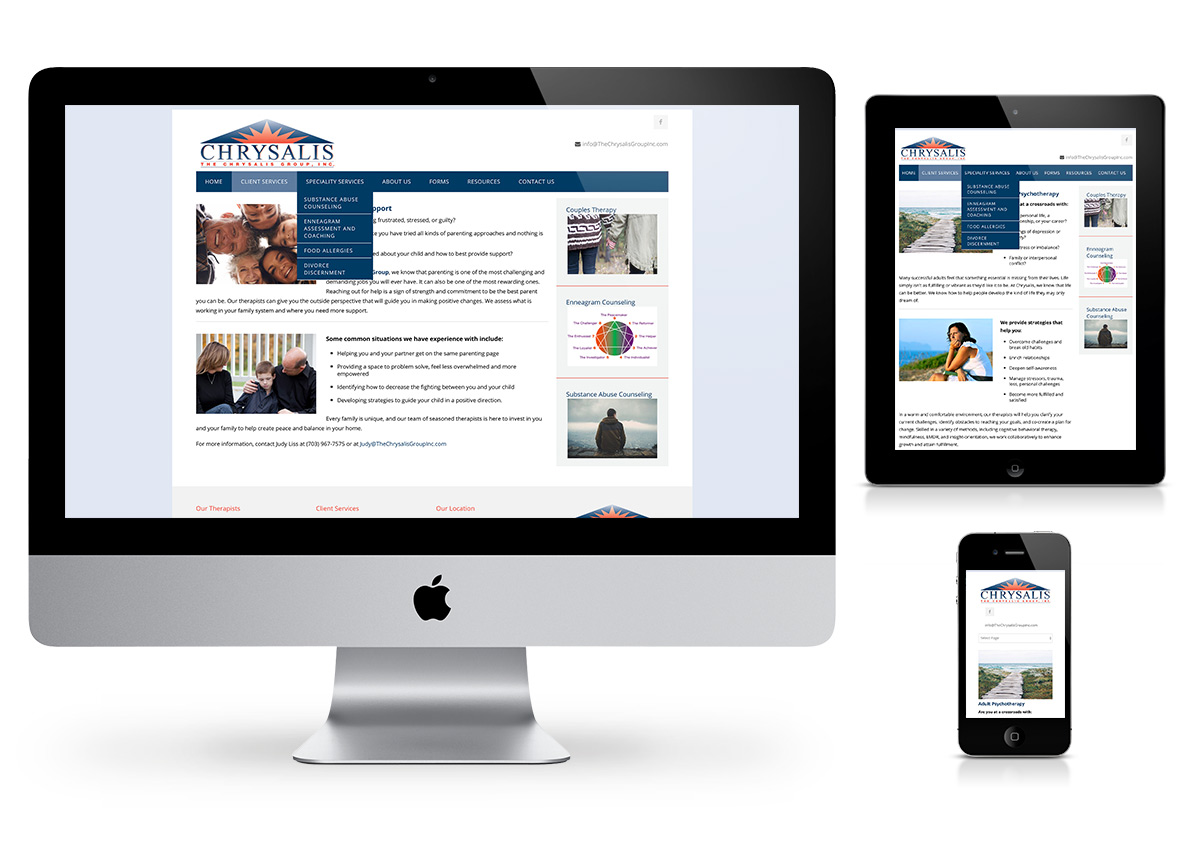 The Chrysalis Group - Website by Fab Web Philly