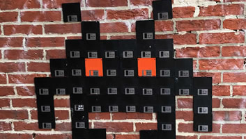 Floppy Disk Space Invader