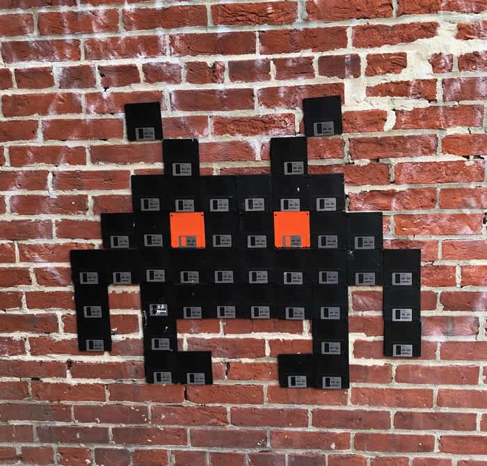 Floppy Disk Space Invader