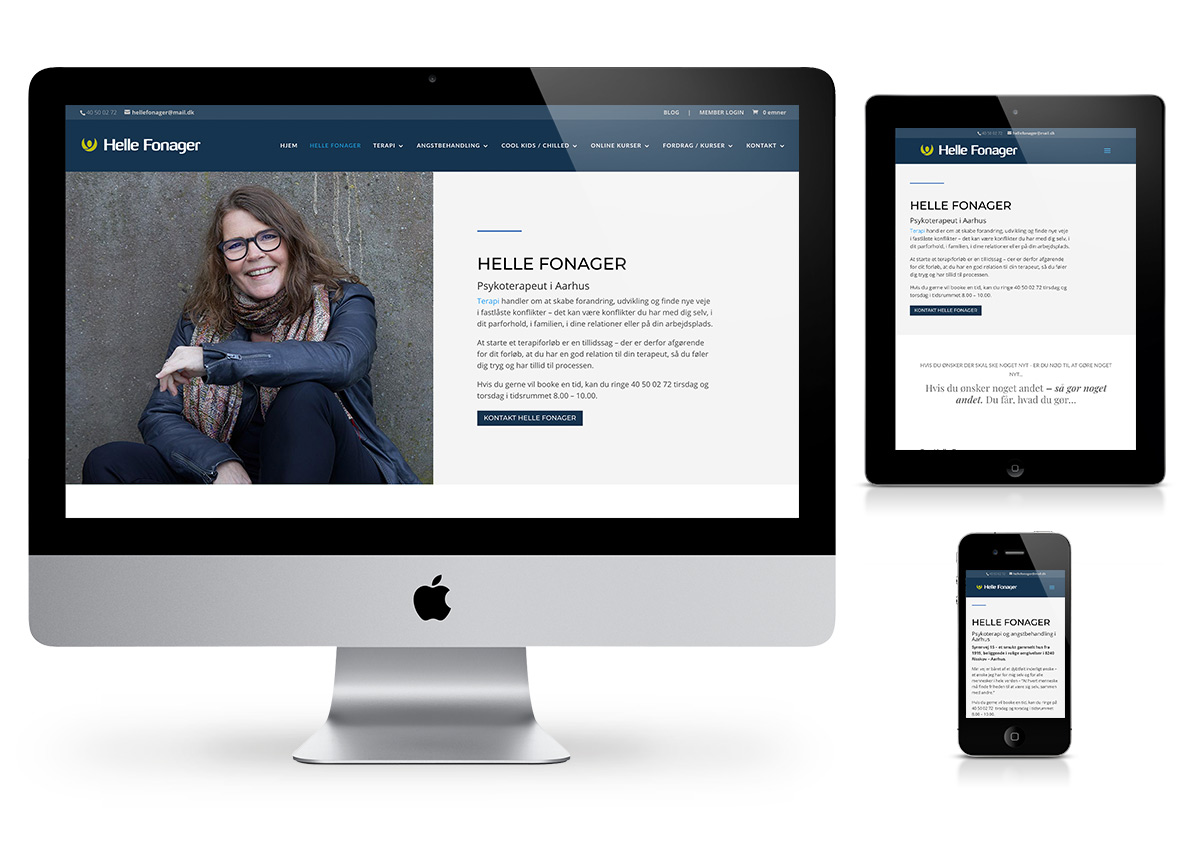 Helle Fonager - Therapist website - Site by Fab Web Philly