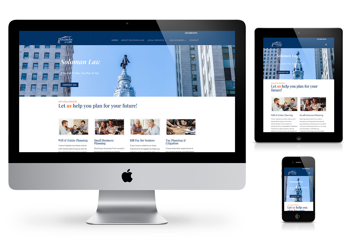 Soloman Law - Law Firm Website by Fab Web Philly