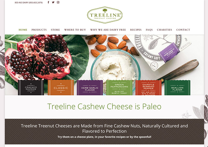 Treeline Cheese Website by Fab Web Phila