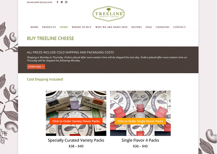 Philadelphia Shopify Store - Treeline Cheese by Fab Web Philly