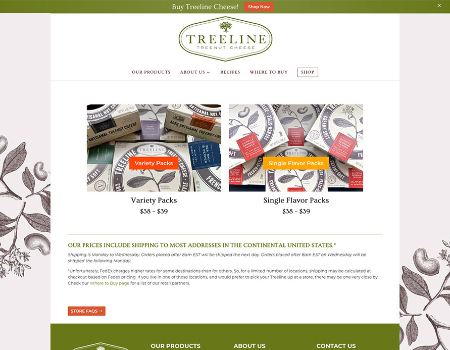 Treeline Website - Fab Web Philly