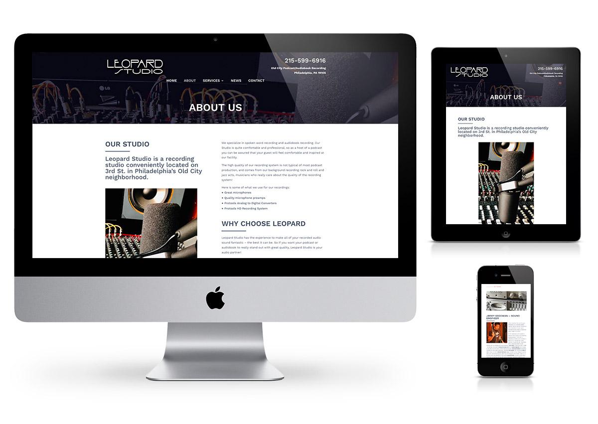 Leopard Studio - Website by Fab Web Philly